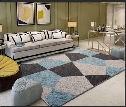 200 300cm Nordic Style Carpet For Living Room Geometric Floor Mat Anti Slip Bedroom Carpet Sofa Table Floor Carpet Kids Room Bed in Carpet from Home Garden