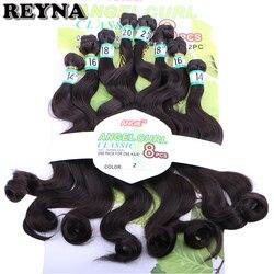 Naturalny czarny kolor ciało fala żaroodporne syntetyczne do przedłużania włosów 8 sztuk/zestaw dla kobiet
