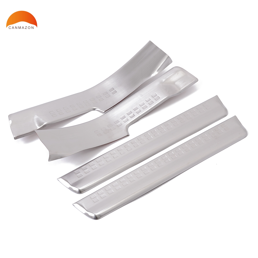 For VOLVO XC60 2008-2014 Stainless Steel Scuff Plate Interior Door Sill Scuff Plate Thresholds Tread Pedal Protector Accessories 2pcs set stainless steel 90 degree self closing cabinet closet door hinges home roomfurniture hardware accessories supply
