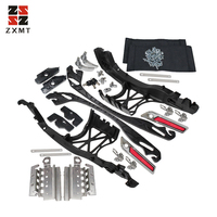 ZXMT Motorcycle Chrome One Touch Opening Saddlebag Latch Lids Hardware Kit Fit For Harley Touring 2014 2018 Year