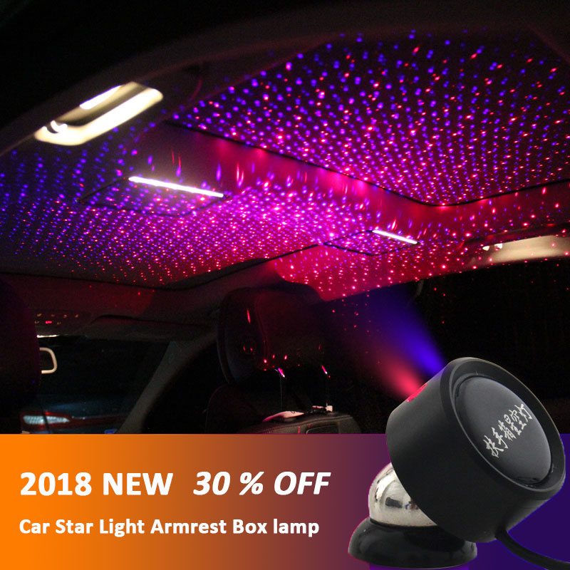 LED Car Roof Star Night Lights Projector Universal Ceiling Decoration Light Interior Ambient Atmosphere Galaxy Lamp