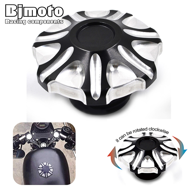 New Arrive Motorcycle Rotatable Flush Gas Fuel Tank Cover Cap For Harley Sportster XL 883 1200 2004-2014 Softail Road Kings