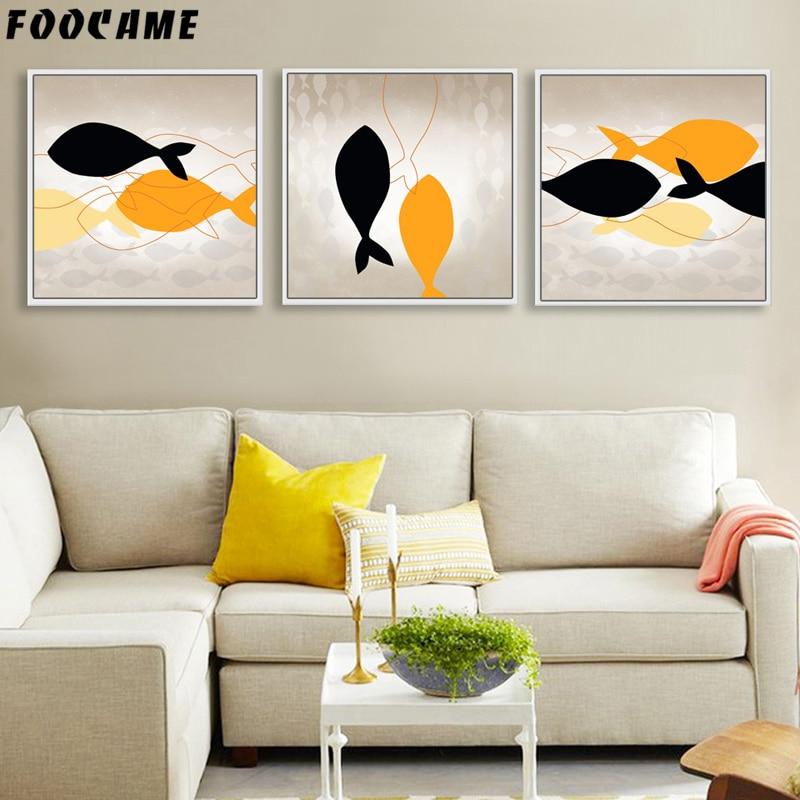 FOOCAME ζωηρόχρωμα ψάρια Αφηρημένα - Διακόσμηση σπιτιού - Φωτογραφία 3