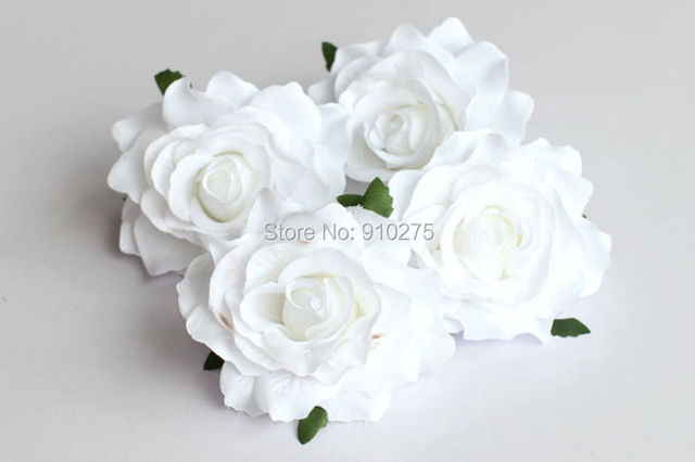 10pcs white artificial rose flower heads bridal wedding flower women 10pcs white artificial rose flower heads bridal wedding flower women hair clip headpieces hair jewelry mightylinksfo