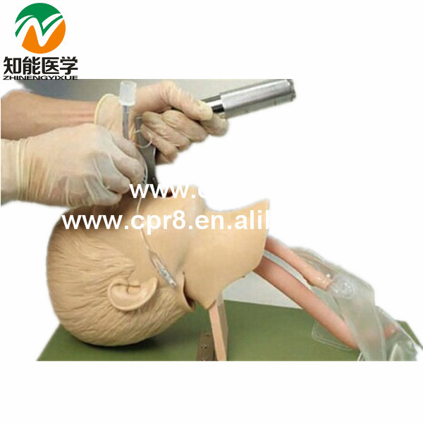 Advanced intubation  manikin child model trachea cannula enfant model BIX-J4A high quality child trachea intubation model intubation training model with soft and vivid head and trachea