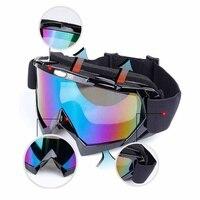 Крутые очки для катания на лыжах, ветрозащитные очки, защитные очки для езды на велосипеде, ТПУ, ПК, очки большого размера, Губка мат, сменяем...