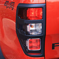 for ford ranger t6 accessories ABS matte black tail light covers trim for FORD RANGER 2012- 2016 car styling rear lamp cover