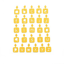 Naifumodo 26 Candle Lowercase Alphabet Metal Dies Letters Cutting Scrapbooking Embossing Cut Stencils DIY Cards