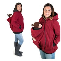 pregnancy clothes wool baby wearing Maternity coat women hoodie baby carrier kangaroo outerwear Coat for Pregnant Women