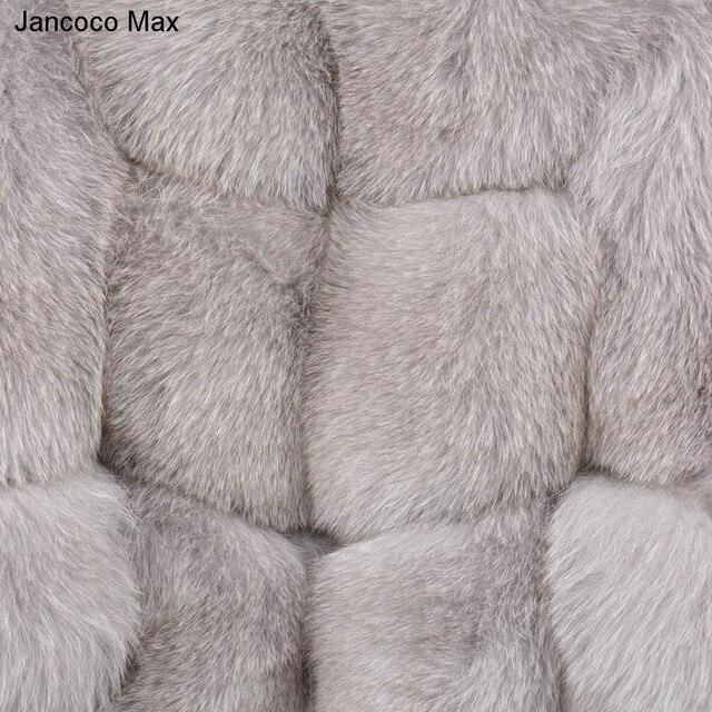 Jancoco Max femmes réel manteau de fourrure de renard hiver épais chaud vêtements mode haute qualité longue pardessus 2019 nouveau S7221