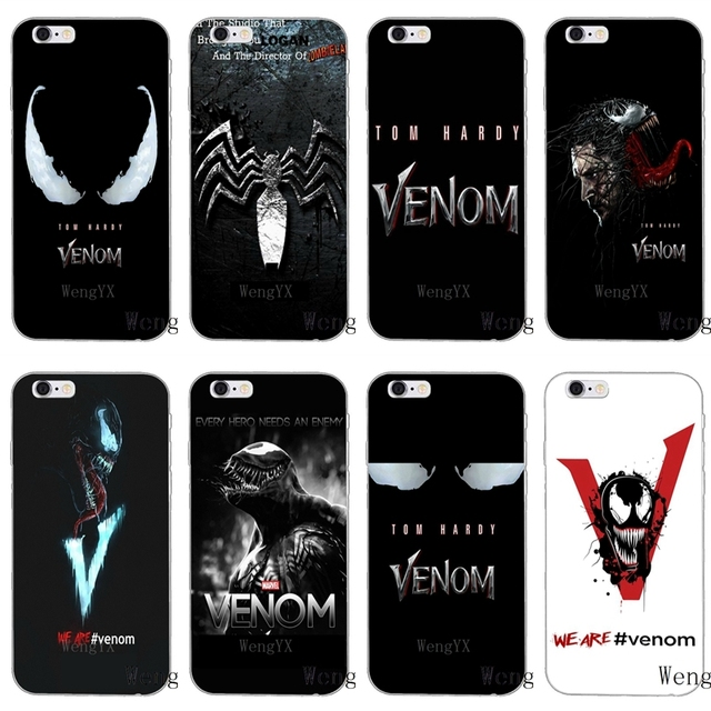 New Marvel Venom 2018 Movie Logo Slim Silicone Soft Phone Case For