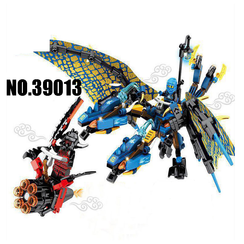 WAZ Compatible Legoe Ninjagoes Lepin 39013 building blocks Ninjago Ice Flame DarkSteel Dragon Figure Bricks toys for children lepin 06037 compatible lepin ninjagoes minifigures the lighthouse siege 70594 building bricks ninja figure toys for children