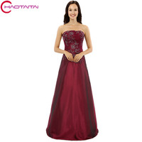 Prom Dresses Real Model Simple Style Strapless Top Lace Appliques On Sale New Fast Shipping Party