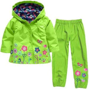 Image 5 - KEAIYOUHUO Autumn Winter Kids Clothes Windbreak Waterproof Boys Sets Raincoat Jackets+Pant Girls Sport Suit Children Clothing