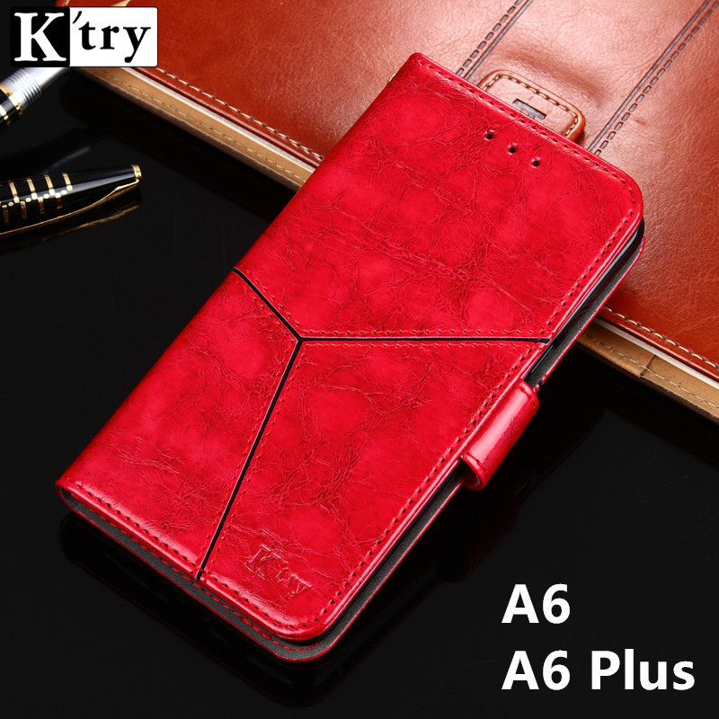 For Samsung Galaxy A6 Case Luxury Flip Leather Wallet Book Stand Cover Case for Samsung A6 Plus Phone Case Card Slots