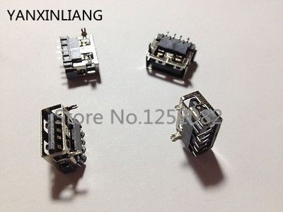 20pcs USB Type A Female 4 Pin SMT SMD Socket Connector 2 Pin DIP Ping mouth ps2561 2561 nec2561 dip 4 page 2