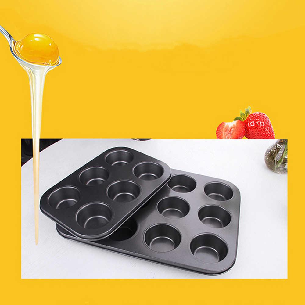 Сверхмощная углеродистая сталь 12 мини-чашка кекс противень для выпечки капкейков торт-образный кастрюля с антипригарным покрытием кекс инструменты 3d Горячие