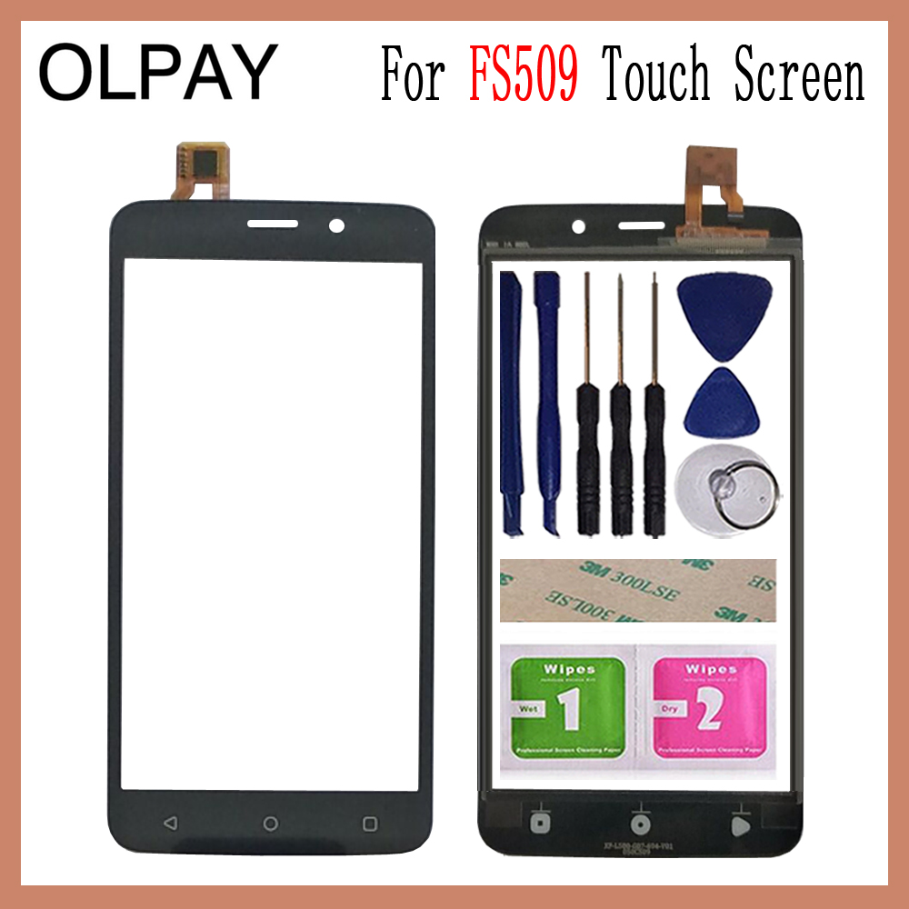 OLPAY 5.0 Mobile Touch Glass For Fly FS509 Nimbus 9 Touch Screen Digitizer Front Glass Lens Sensor Tools Free Adhesive+WipesOLPAY 5.0 Mobile Touch Glass For Fly FS509 Nimbus 9 Touch Screen Digitizer Front Glass Lens Sensor Tools Free Adhesive+Wipes