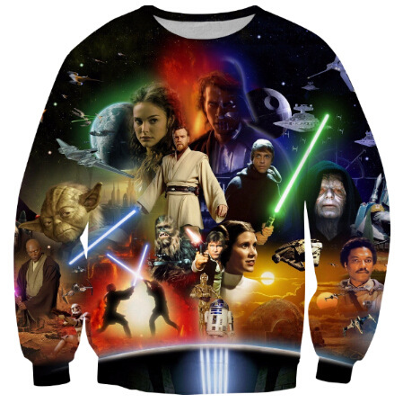New Women/Men Star Wars Lightsaber Anakin Skywalker 3D Print Sweatshirts Autumn Casual Pullover Hip Hop Tops Long Sleeve Clothes