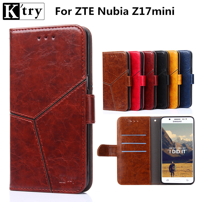 K'try for ZTE Nubia Z17 Mini Case Flip Luxury PU Leather Funda Coque Cover Case for Nubia Z17 Mini With Phone Stand