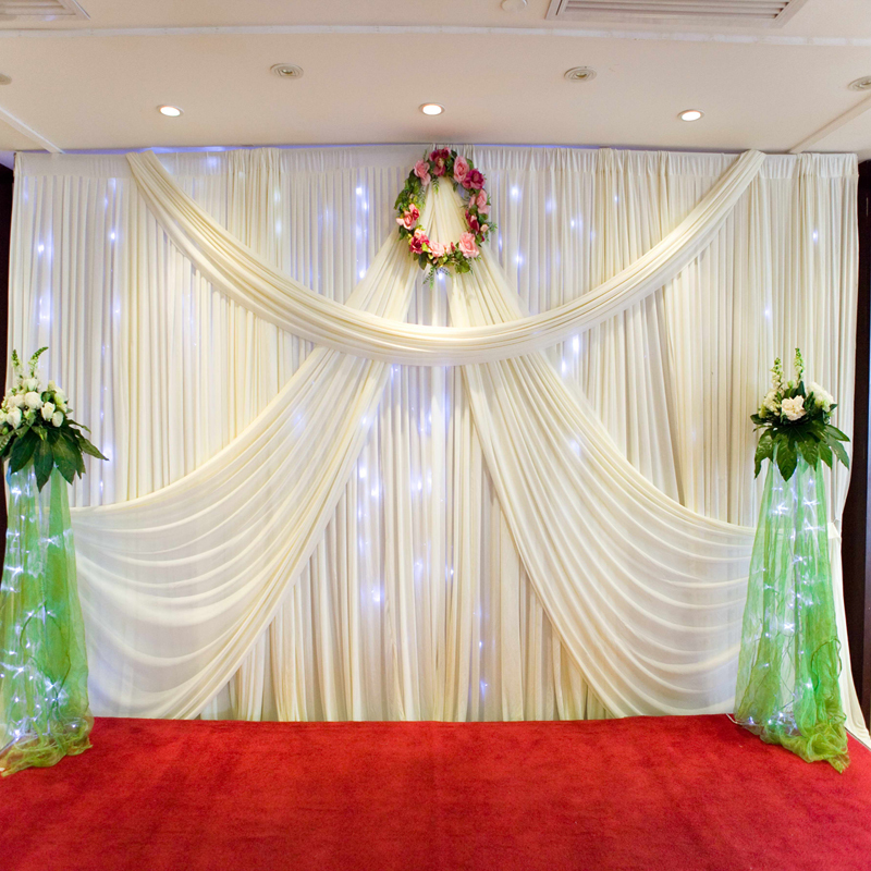 2017 new design mandap 3 6 wedding curtain drapery for sale white backdrop wedding backdrop. Black Bedroom Furniture Sets. Home Design Ideas