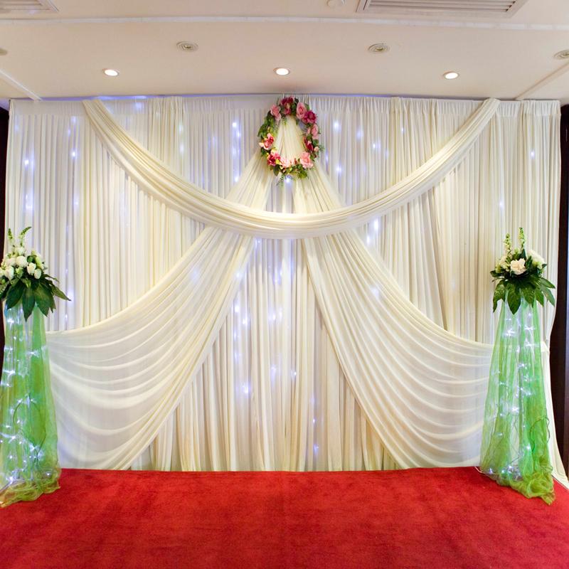 nuevo diseo mandap blanco teln de fondo de la boda teln de