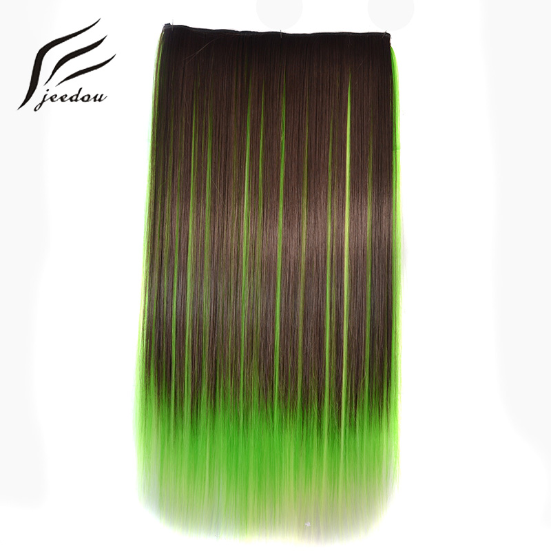 Jeedou 5Clips Straight Synthetic Hair Clip In One Piece Hair Extensions 22