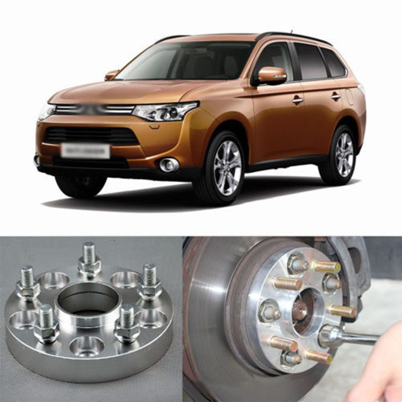 4pcs New Billet 5 Lug 12*1.5 Studs Wheel Spacers Adapters For Mitsubishi Lancer/Lancer EVO IX/Lancer EVOLUTION/ASX /Outlander 4pcs new billet 5 lug 14 1 5 studs wheel spacers adapters for bmw x5 e70 2007 2013