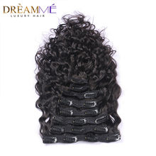 Dreaming Queen Hair Brazilian Natural Wave Clips In Human Hair Extensions 120g/Bundles 8pcs/Set Clips In Weave Machine Made Remy(China)