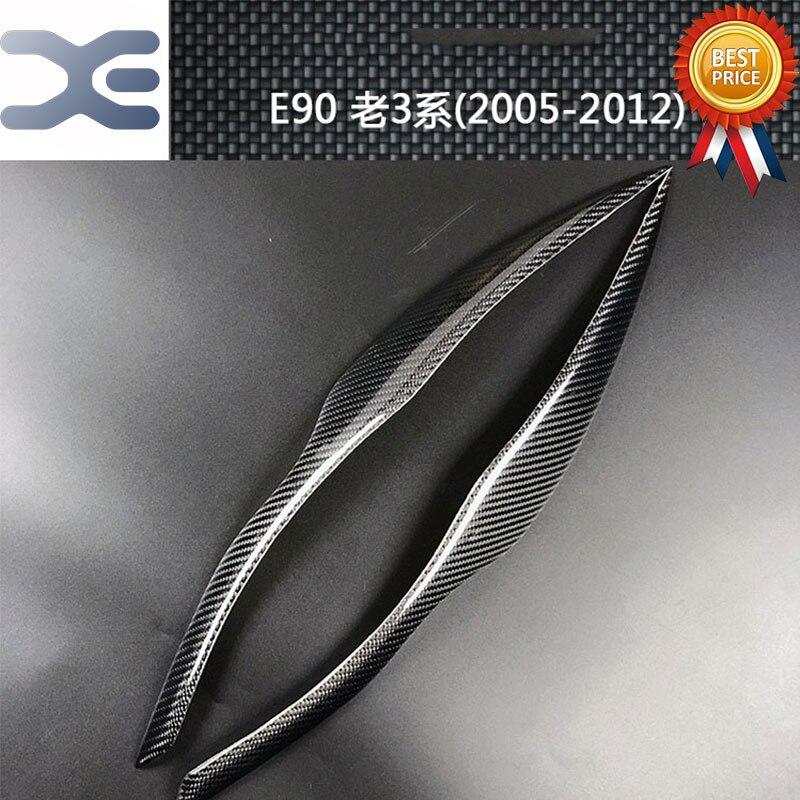 Voiture De Fiber De carbone Lumière Décoration Autocollant Extérieur Accessoires POUR BMW 05-12 3 Série E90 Voiture Autocollants