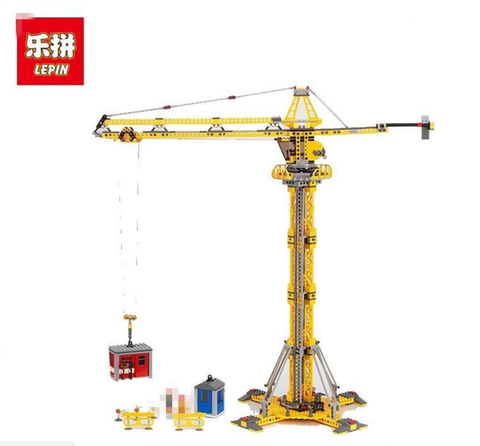 Genuine Lepin 02069 778Pcs The Building Crane Set 7905 City Series Building Blocks Bricks Educational Toys As Boy`s Gift Model lepin 02020 city series the new police station set 965pcs children educational building bricks blocks boy toys model 60141 gift