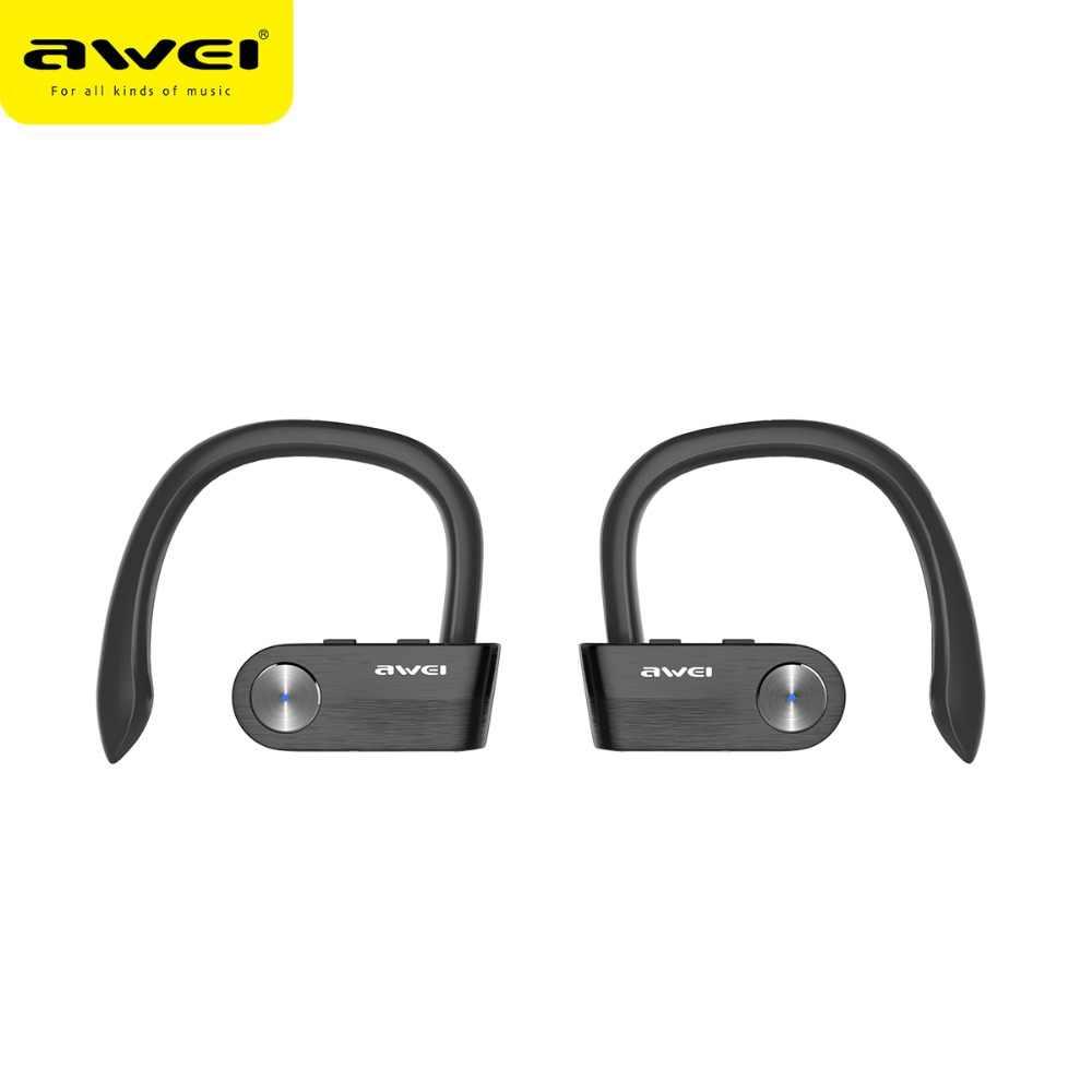 Awei T2 Sports Tws Wireless Earphones With Microphone Waterproof Mini Bluetooth Headset Handfree Music True Wireless Earbuds Aliexpress