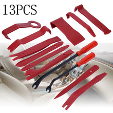 13pcs Wide edge Removal Pry Tool Upholstery clip Remover Disassemble Interior board Dashboard CD Control Panel цена