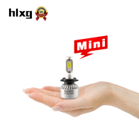 2017 New Arrival 2PCS Mini Size Car Headlights H7 LED Bulb Auto Front Light Bulbs 8000LM