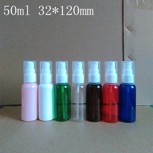 50ml plastic pump Empty Packaging bottle Lotion shower gel Shampoo Originales Refillable sample Empty Cosmetic Containers