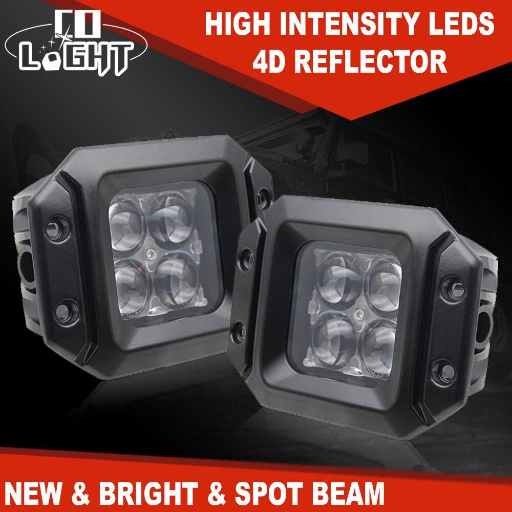 CO LIGHT 20W 3 Inch Led Work Light Bar Spot Flood Led Beams 12V 24V Led Bar Offroad for Uaz Jeep 4x4 ATV SUV Lada Auto Fog Light-in Light Bar/Work Light from Automobiles & Motorcycles    1