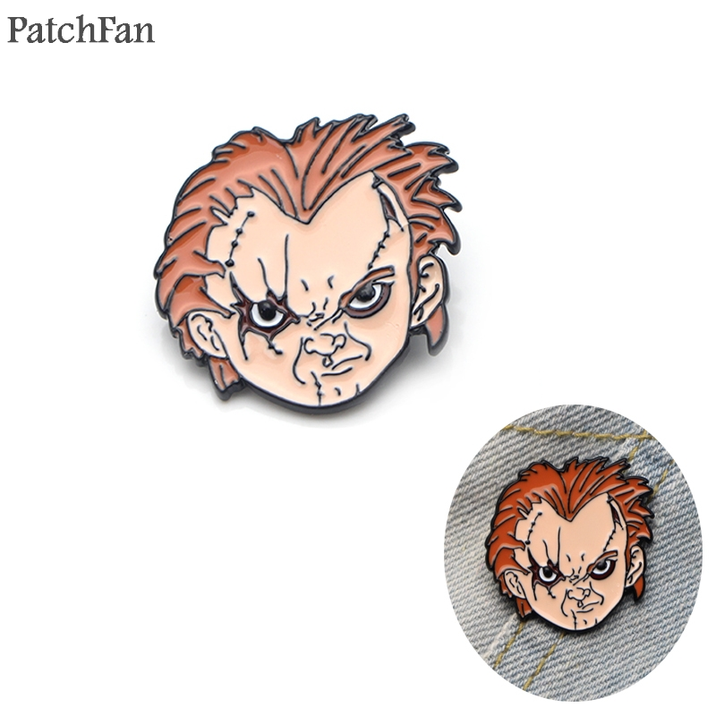 20pcs/lot Patchfan Seed of Chucky alloy pin badges para shirt clothes cap backpack shoes brooches badges medals decoration <font><b>A1136</b></font> image