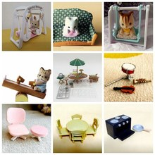 Sylvanian Family Original mini furniture toys Anime Cartoon figures Toys Child Toys gift