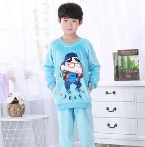 Image 3 - Kinderen Pyjama Herfst Winter Fonds Meisje Jongens Lange Mouw Flanel Coral Down Kids Kledingstuk Nachtkleding Woninginrichting Dienen UE67
