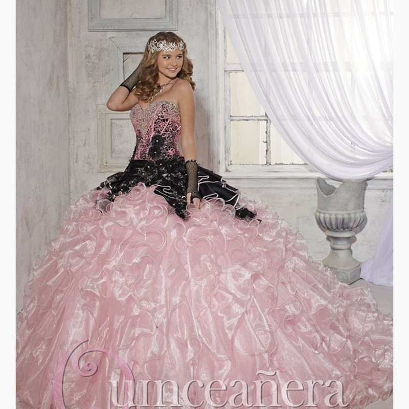 Popular Pink and Black Quinceanera Dresses-Buy Cheap Pink and ...