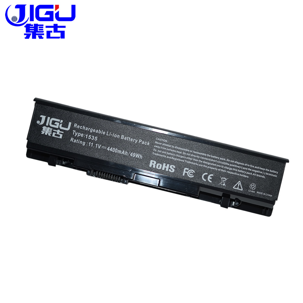 JIGU Laptop Battery FOR Dell Studio 1535 1536 1537 1555 1557 1558 For Dell 312-0701 A2990667 KM958 WU946 Battery 6Cells new and orginal english us black with backlit laptop keyboard for dell studio 15 1555 1557 1558