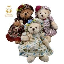 1PCS 40CM Cute Dress Teddy Bear Plush Doll Sweet Floral Dress Teddy Bear  Plush Stuffed Toy df192187ad