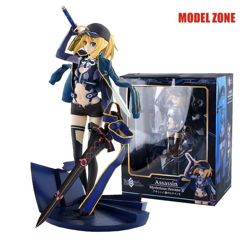 25 cm destin Grand ordre sabre Assassin mystérieuse héroïne X PVC figurine d'action classique anime à collectionner modèle jouets poupée avec boîte