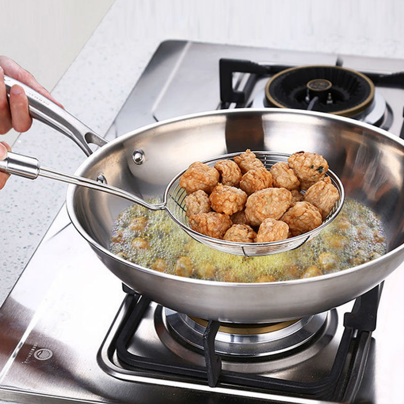 Kitchen hot pot spoon net colander steel handle line leakage Mala Tang stainless steel slip net
