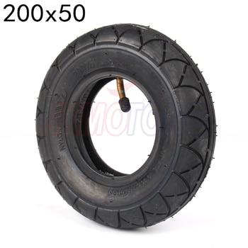 Neumático de patinete eléctrico de 8 pulgadas de 200x50 y tubo interno para scooter, de cuchillas, E100, E150, E200, eSpark Crazy Cart