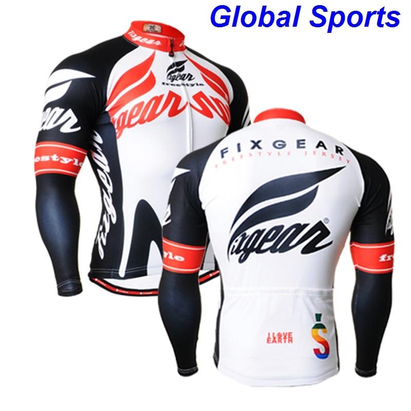 NEW men cycling jersey long sleeve clothing no Fleece pro racing team bike wear riding maillot ropa ciclismo