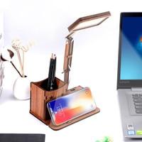 LED eye protection Creative table lamp Flexible folding mobile phone bracket book lights New High Lumen Home Office Reading 5.10