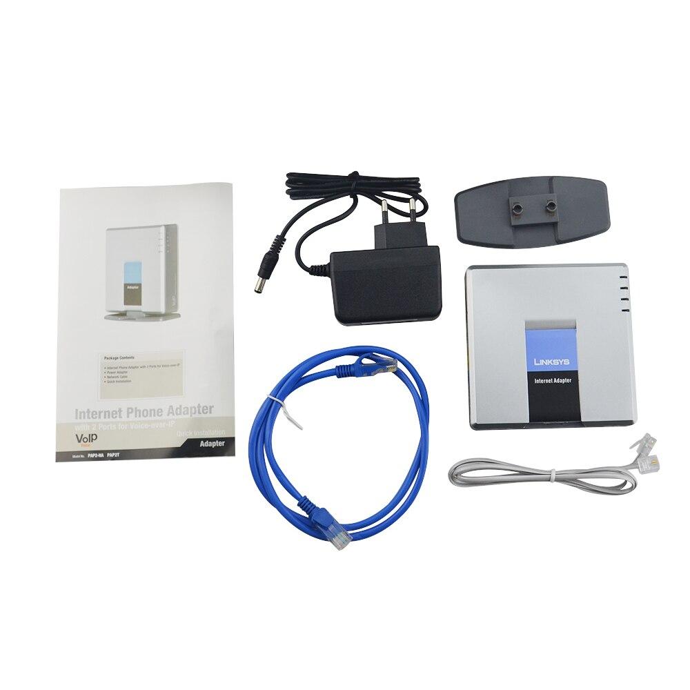 Geben Schneller versand! Voip voice gateway VOIP router PAP2T-NA entsperrt Linksys typ PAP2T stimme router IP SIP PBX