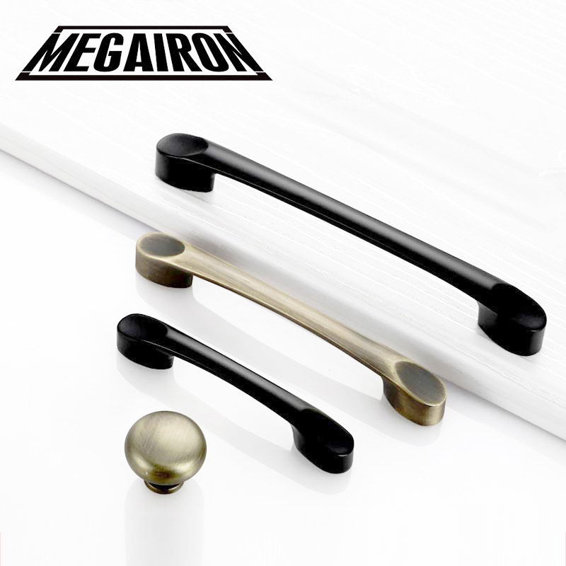 MEGAIRON Modern Door Handles Kitchen Cabinet Knobs Simple Cupboard Handle Wardrobe Knobs and Drawer Pulls with Screws in Cabinet Pulls from Home Improvement