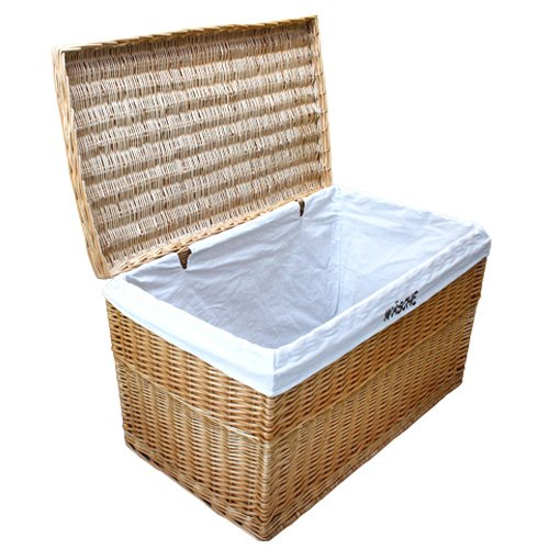 WICKER LAUNDRY LINED LINER STORAGE UNIT CHEST TRUNK BOX BASKET Rattan  100x58x58 Cm In Storage Boxes U0026 Bins From Home U0026 Garden On Aliexpress.com |  Alibaba ...